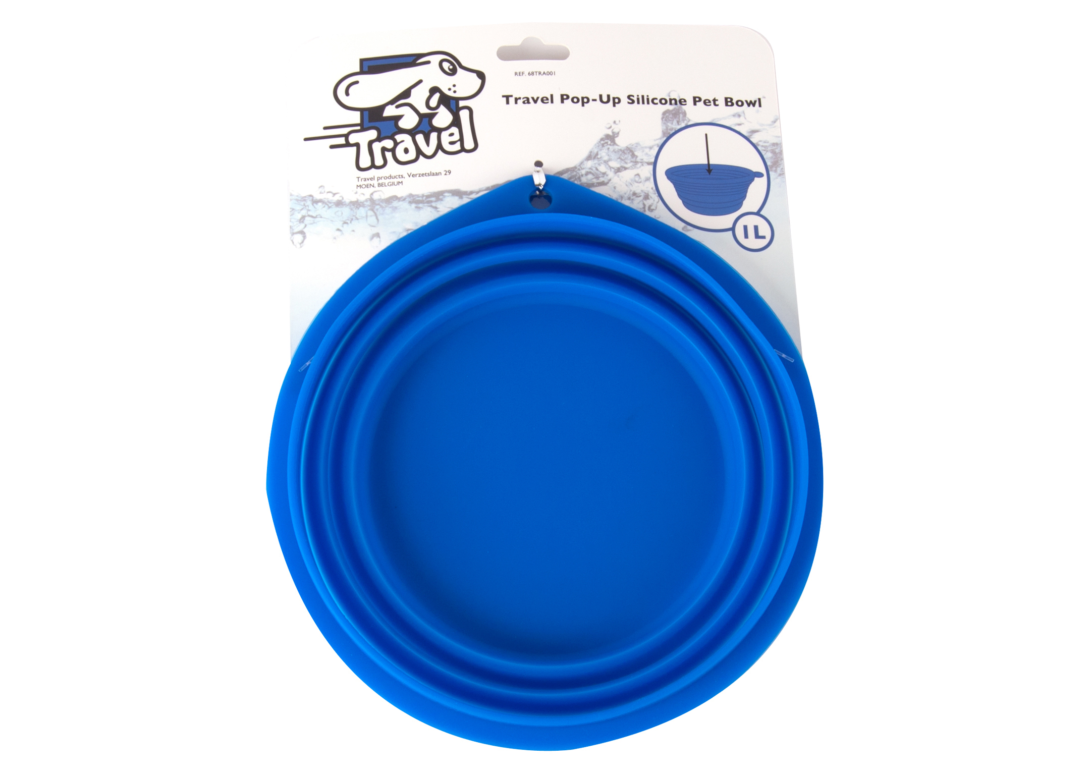 Silicone pet bowl blauw