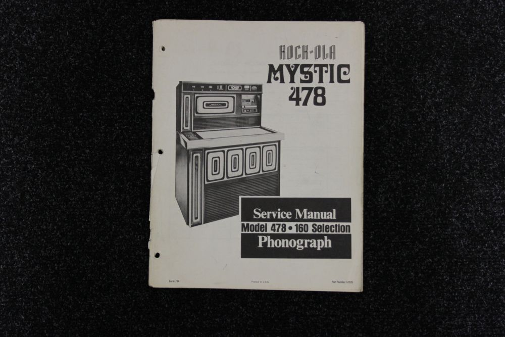 Rock-Ola - Service Manual Model Mystic 478