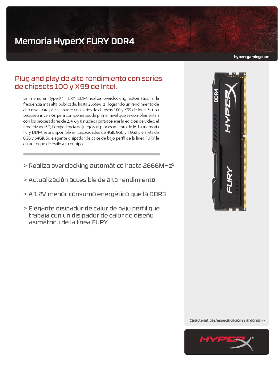 Memoria DDR4 Kingston HYPERX FURY BLK 4GB 266 MHZ 3jpg