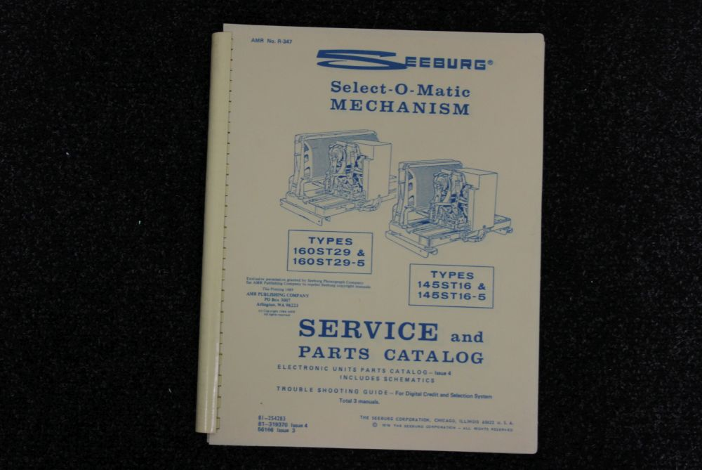 Seeburg - Service and Parts Catalog - Models 160ST29 (5), 145ST16(5)