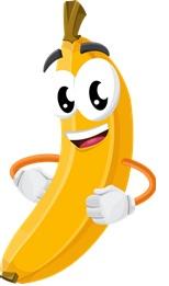 Gezonde lunchtrommel banaanjpg