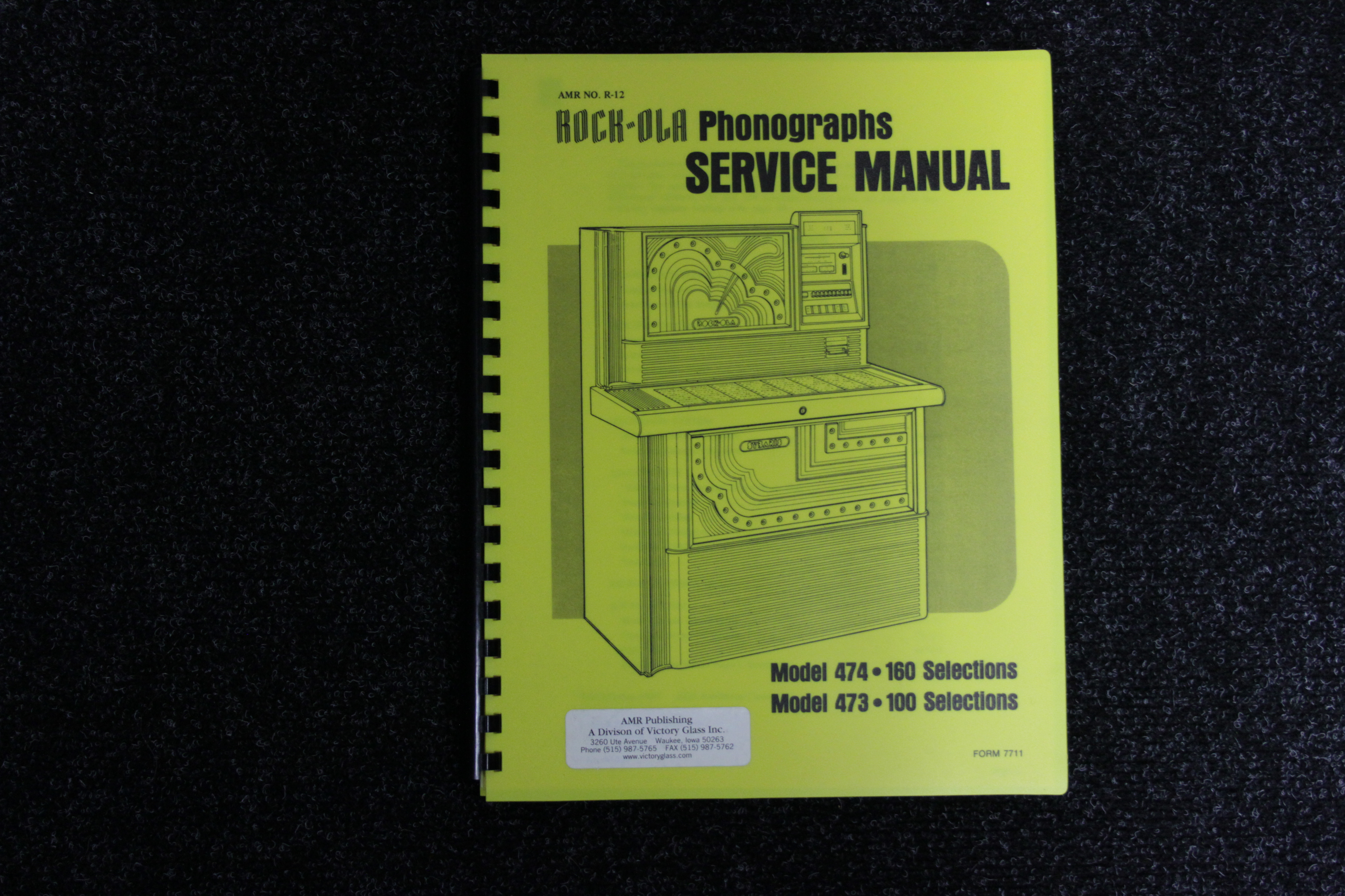 Rock-Ola Service Manual - Model 474 473