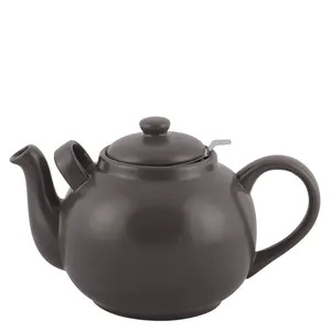 Theepot country kitchen kleur: almost black  (2,5 liter) - NIEUW Gratis rechaud in Januari