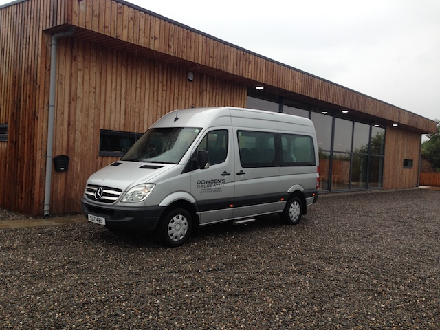 Dowden's Taxis Dalbeattie have a Mercedes Sprinter minibus for larger groups
