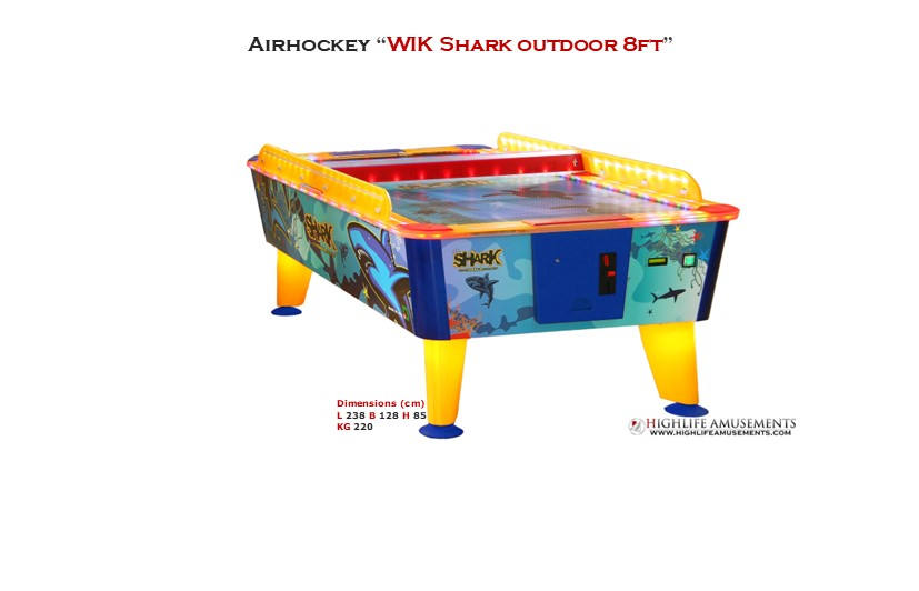 "Rental Airhockey Wik ""Shark 8ft"""