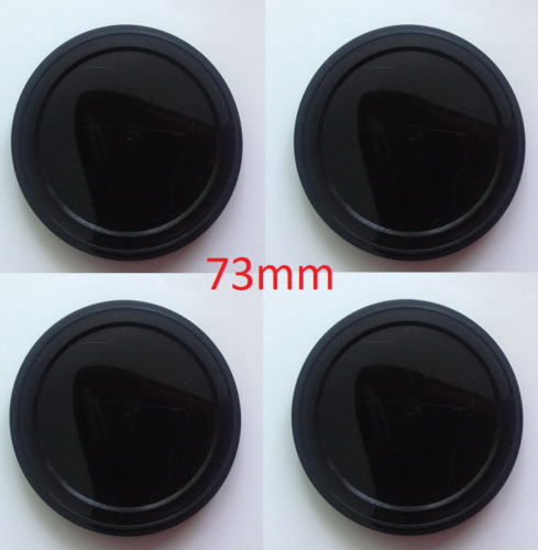 500 x 73mm  No1 Small Cans 28mm + 500 Ring Pull Lids With 500 Black Plastic Lid