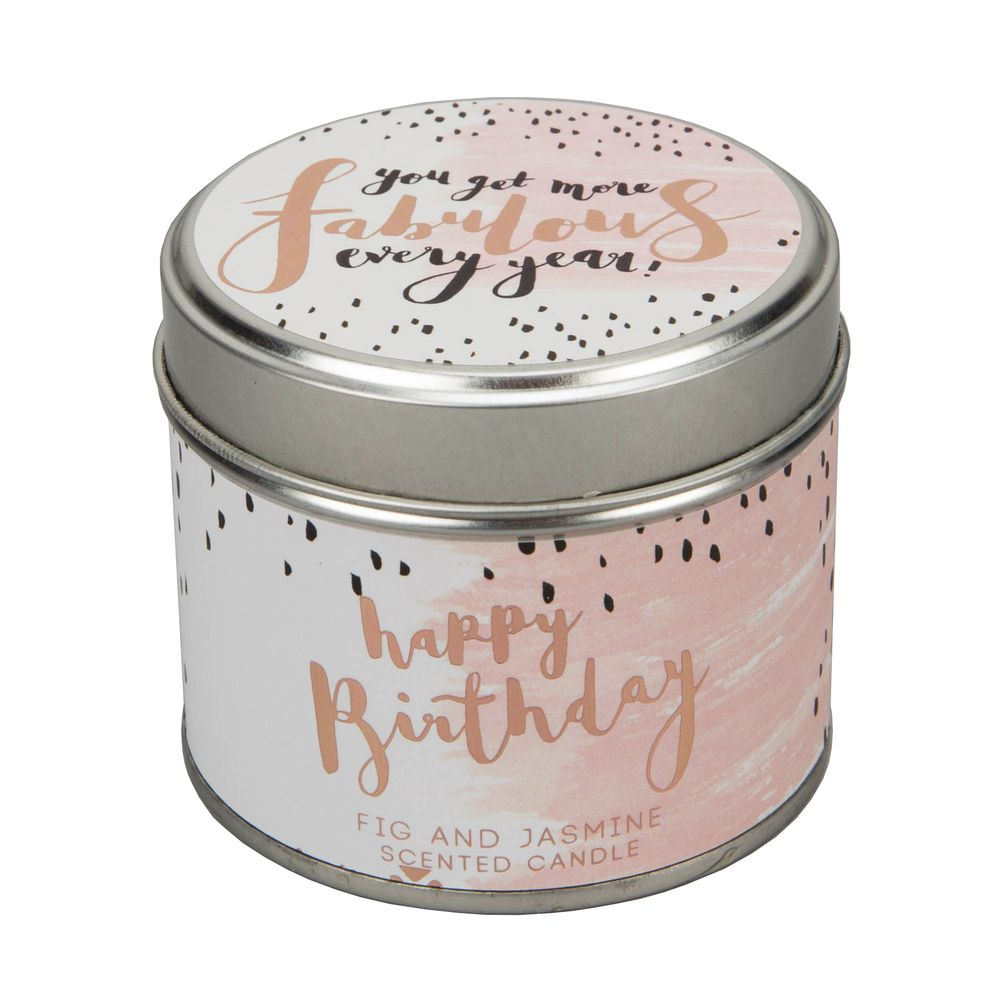 Luxe Happy Birthday Tin Candle