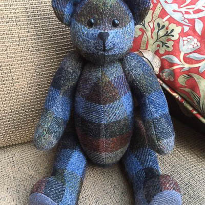 "Fabric Affair: "" Tweedy McNutt Teddy Bear Kit ""."