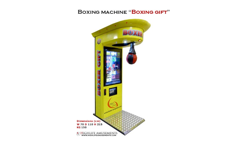 "Rental boxing machine ""Boxer gift"""