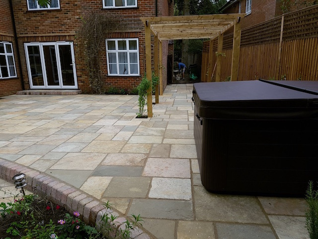 Block Paving Surrey new patio in Sunningdale