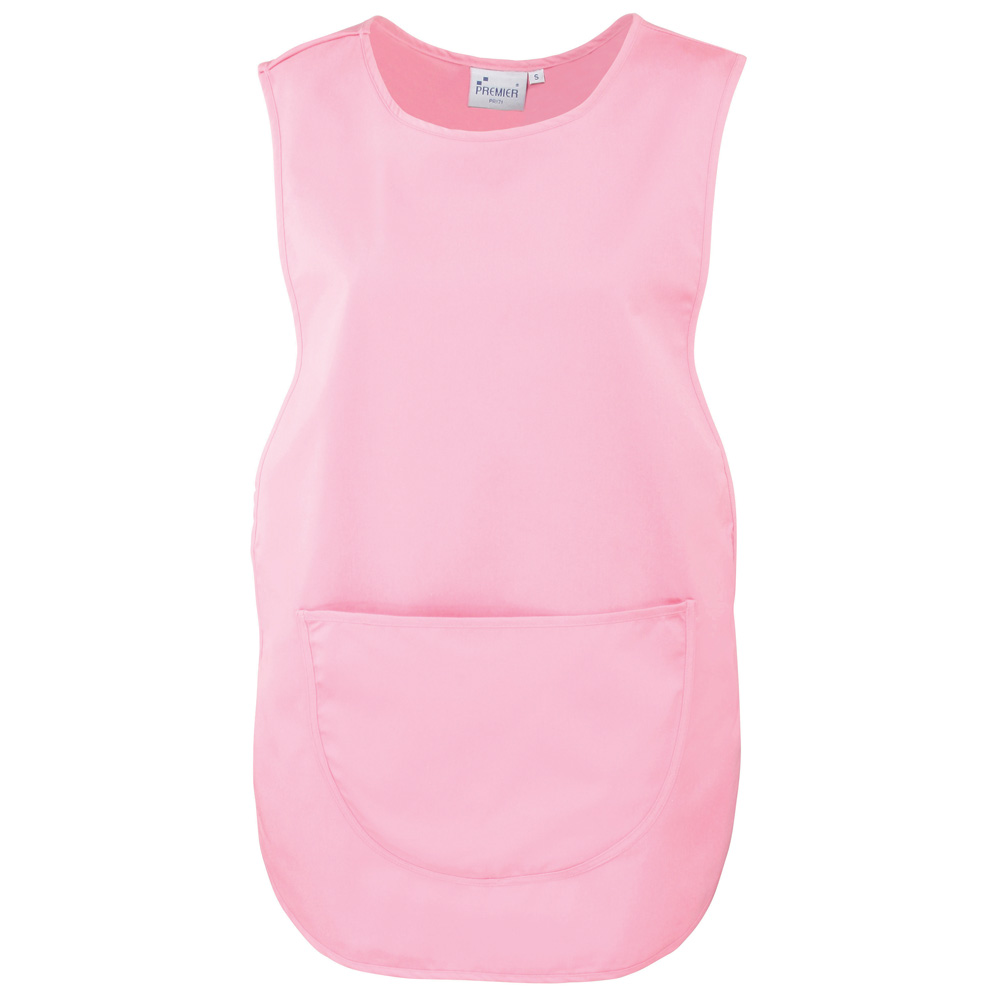 Pink Polycotton Tabard with Pocket.