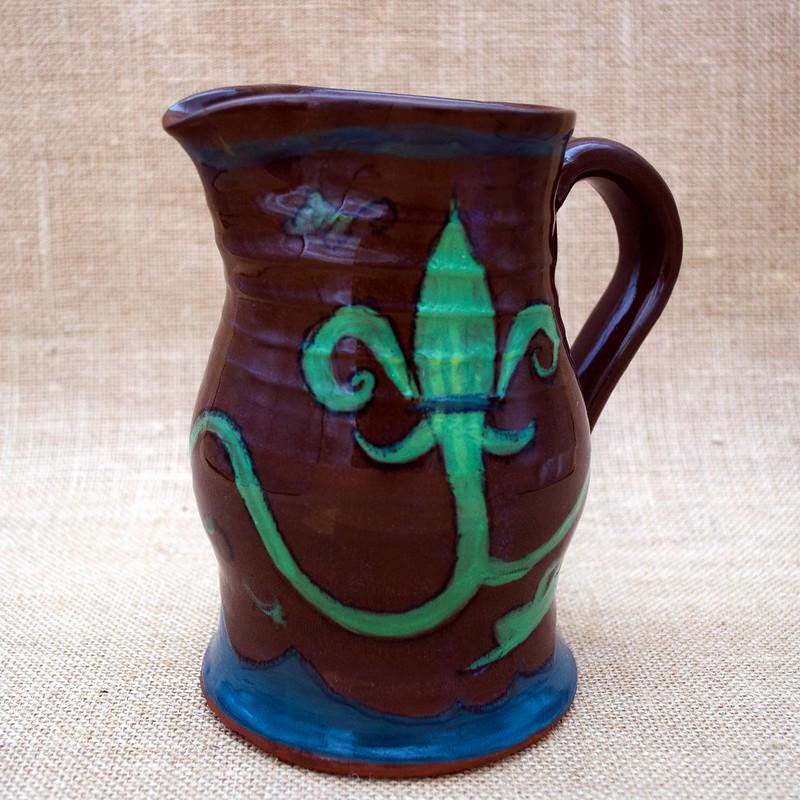 French fleur de lis, medieval style on earthenware