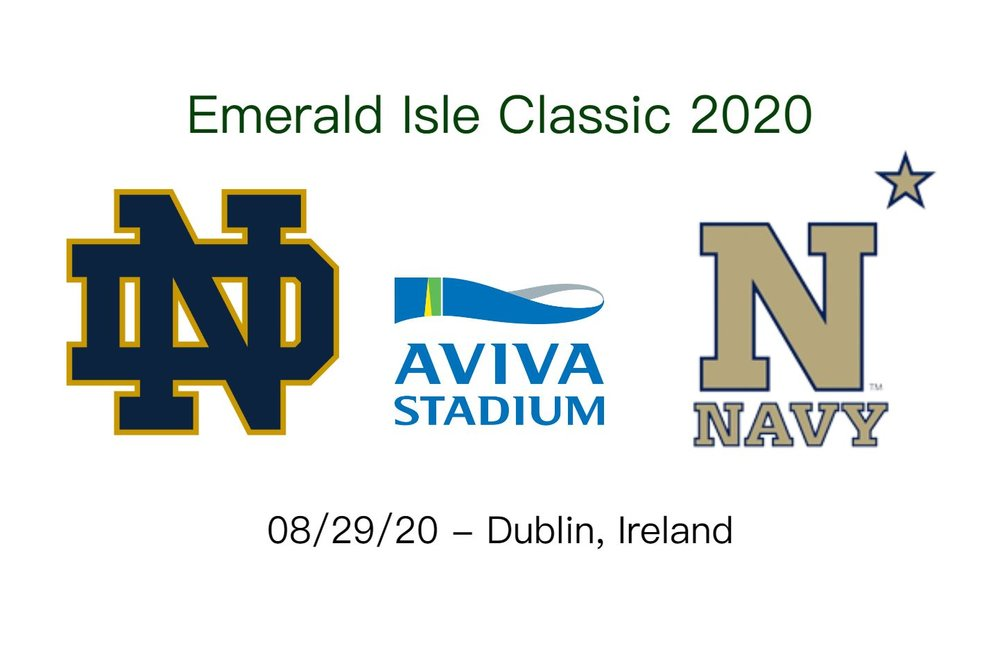 When does the Emerald Isle Classic 2020 take place  On Saturday August 29th 2020  Notre Dame and Navy will go to battle at the Aviva Stadium in Dublin. 3c9eed7ff