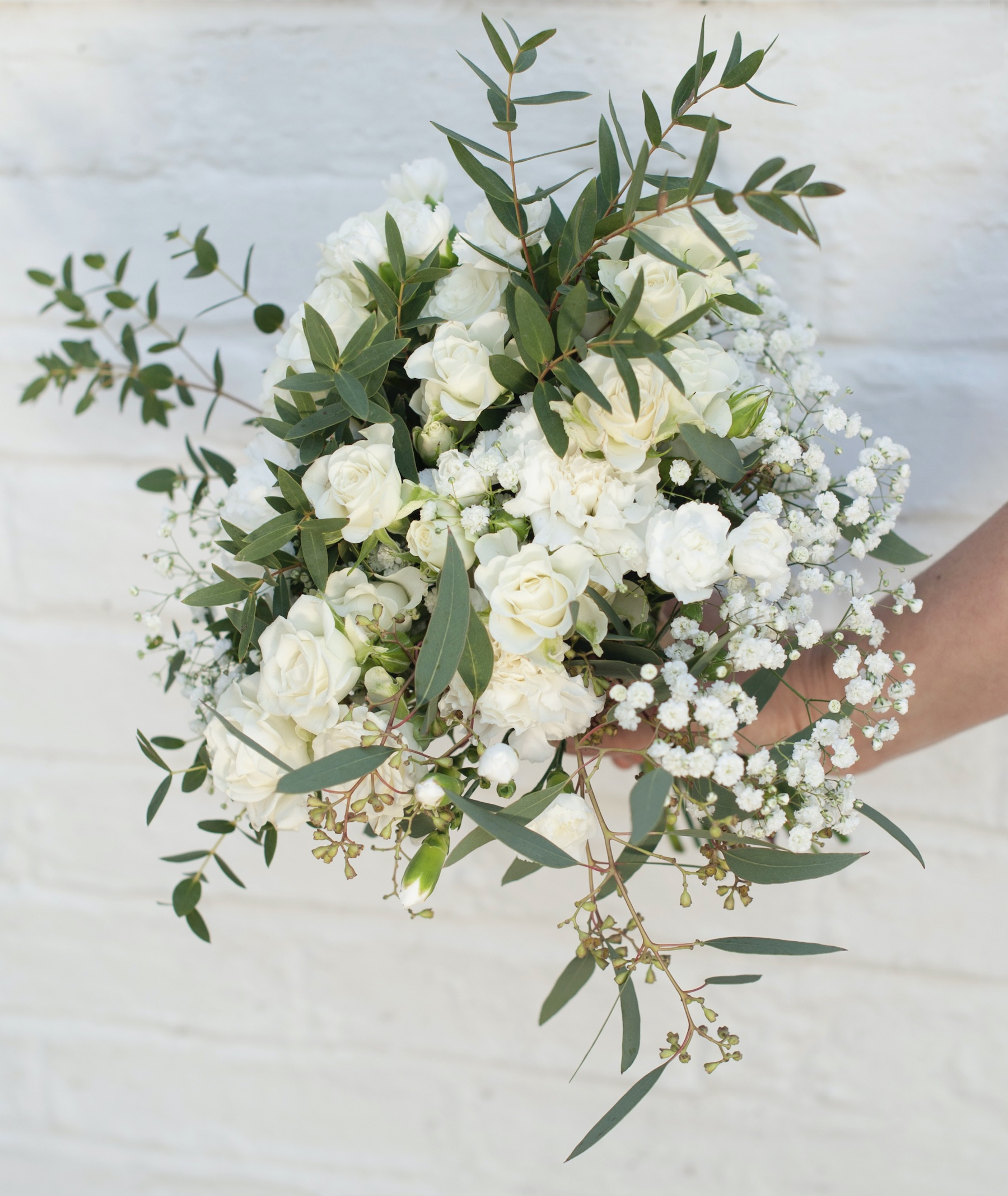 white and greem bouquetjpeg