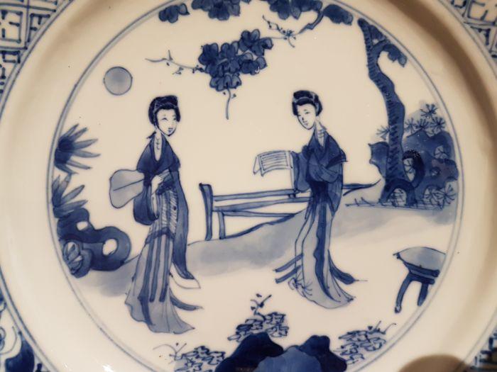 chinese vaas blauw wit
