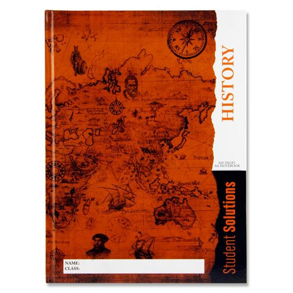 HISTORY A4 Student Solutions A4 160pg Hardcover Notebook