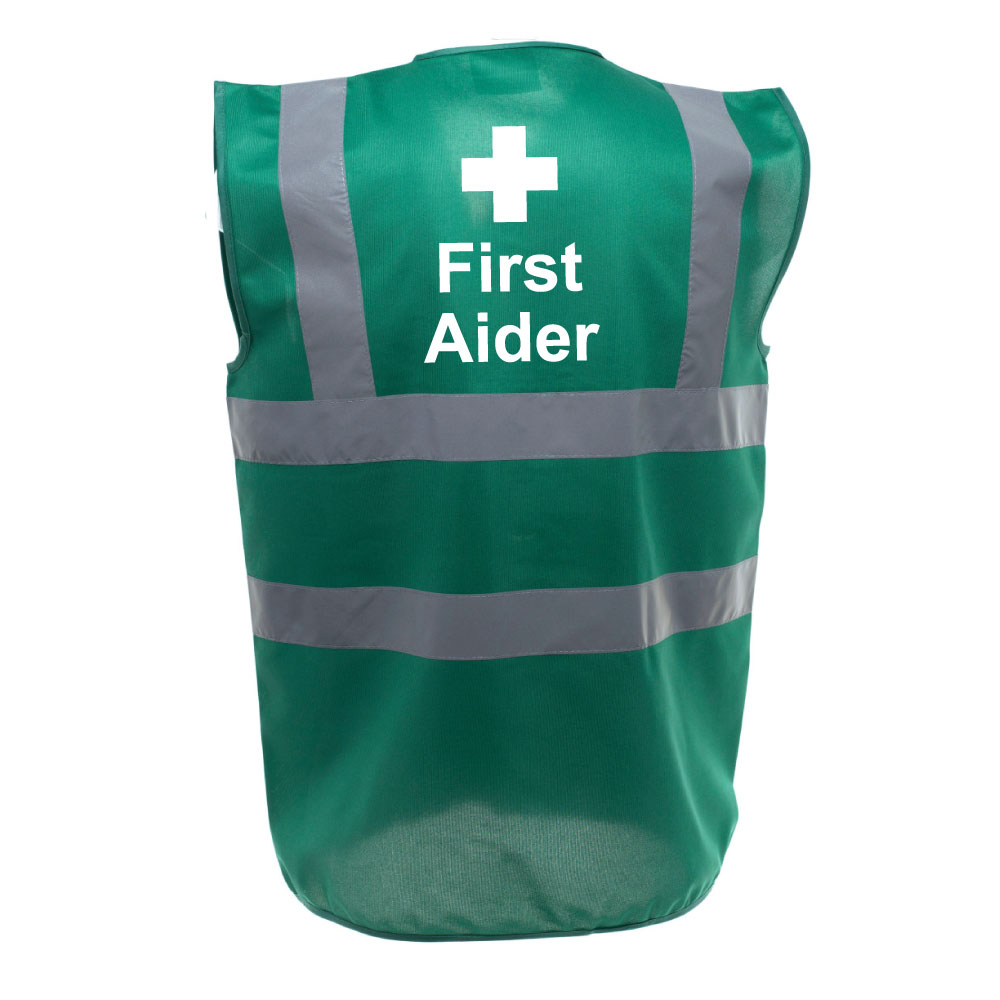 Safety Vest First Aider Paramedic Green