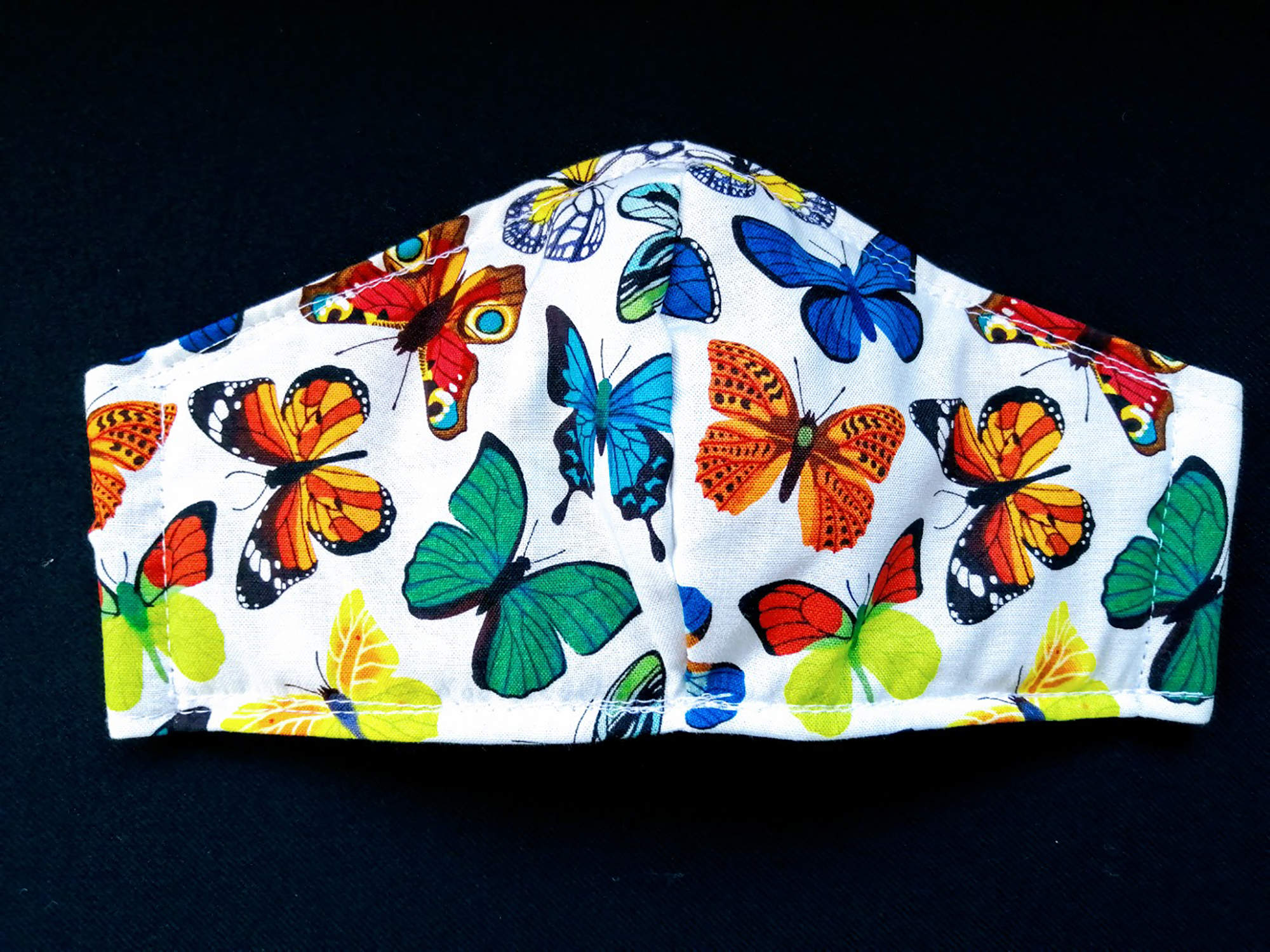 Butterfly fabric. Face Mask for sale in Ireland. 100% Cotton with wadding filter