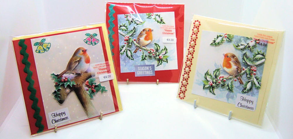 Three handmade Christmas cards - set 3