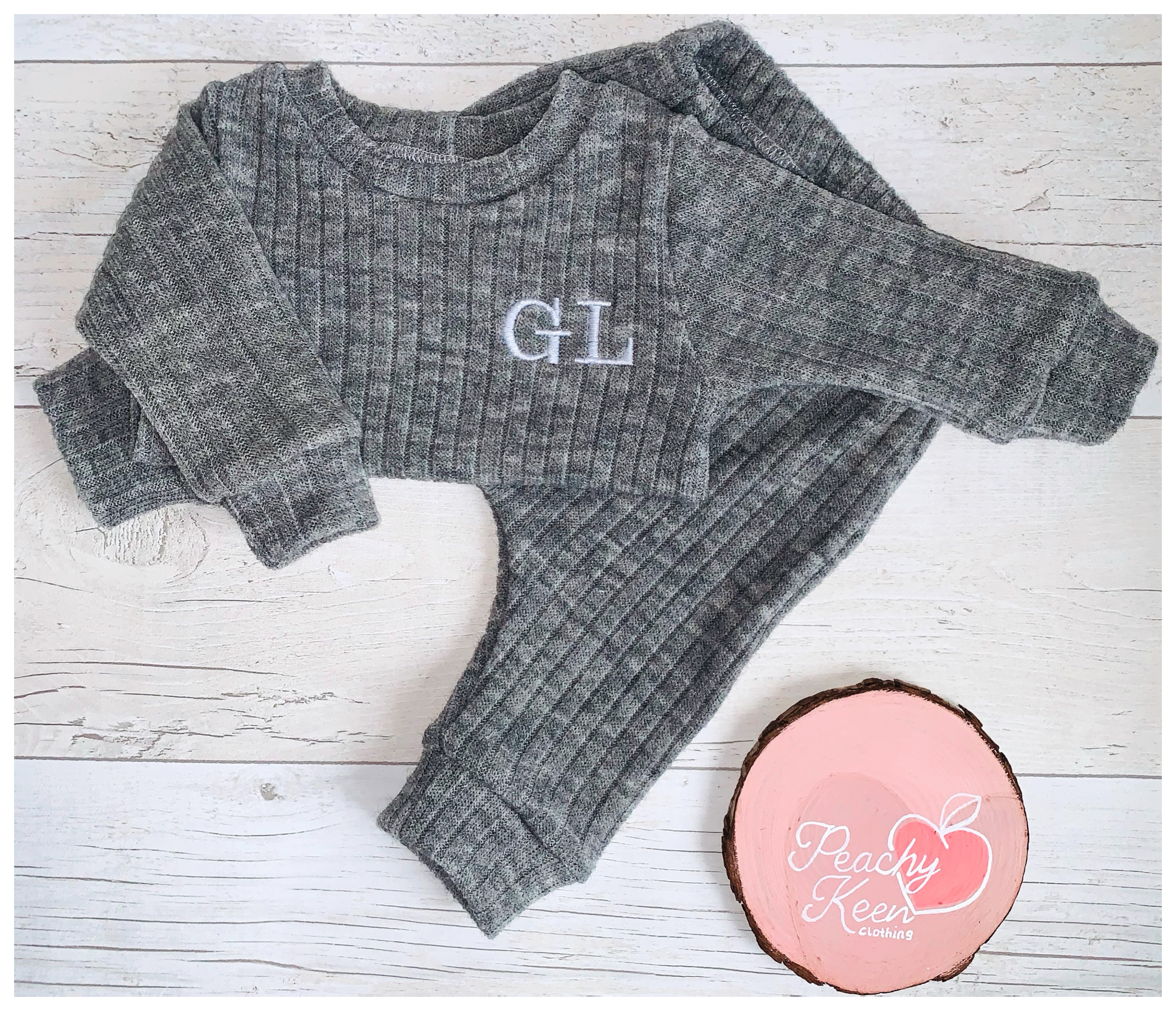 Silver Marl Chunky Knit Set