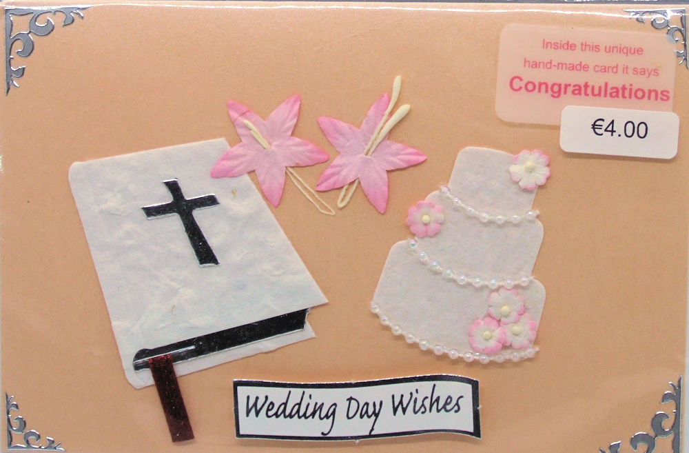 Handmade 'Wedding' card - 44