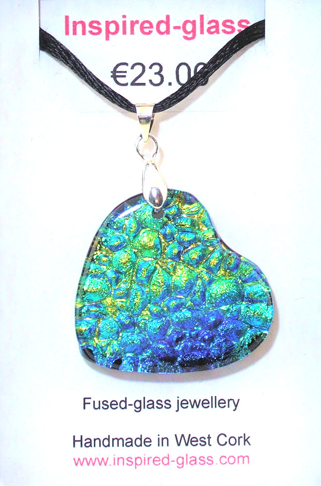 Fused-glass jewellery - pendant - 136