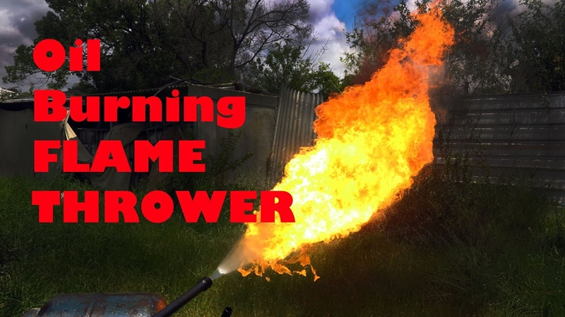 oil flame thrower