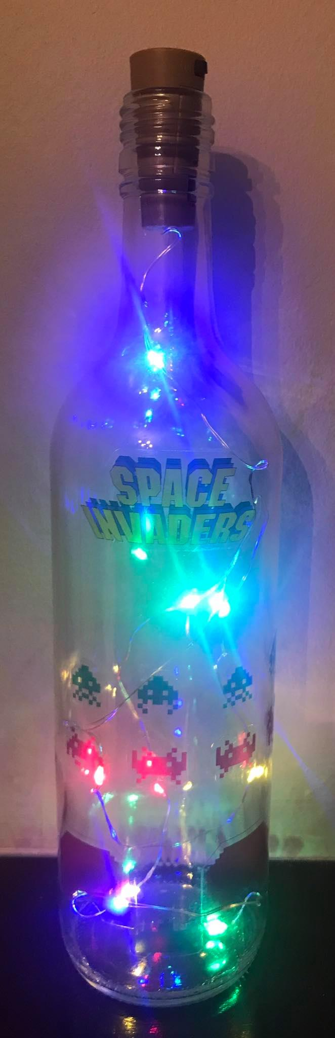Space Invaders Light Up Bottle