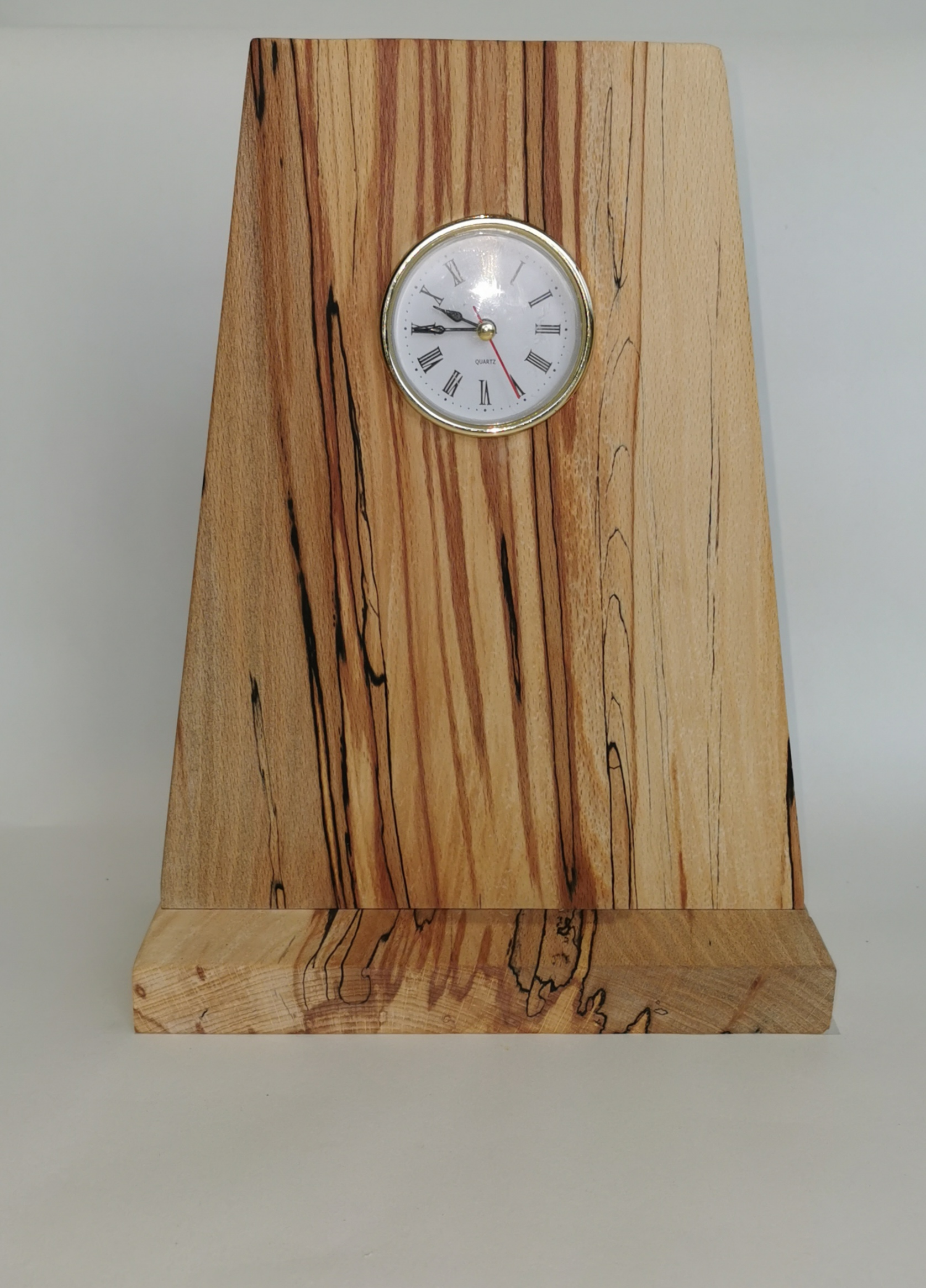Spalted Beech Freestanding  Clock