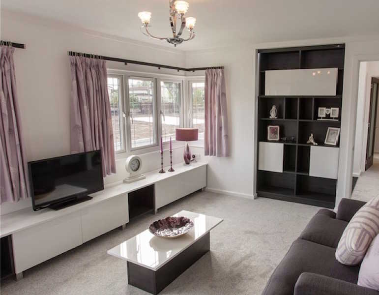 A park home lounge at Helsby Park, Frodsham, Cheshire