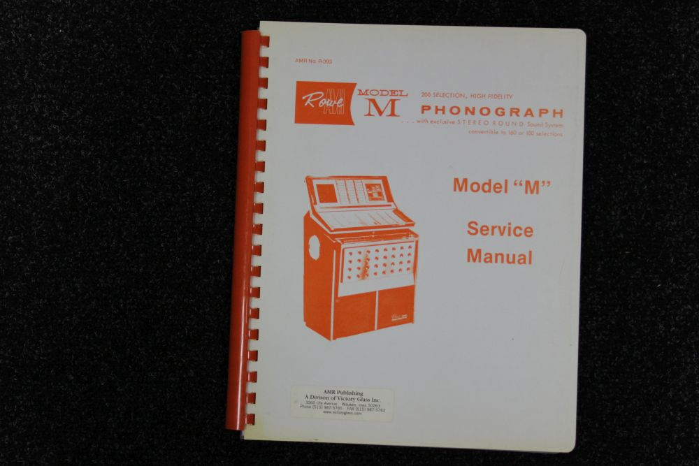 Rowe AMI - Service Manual - Model M