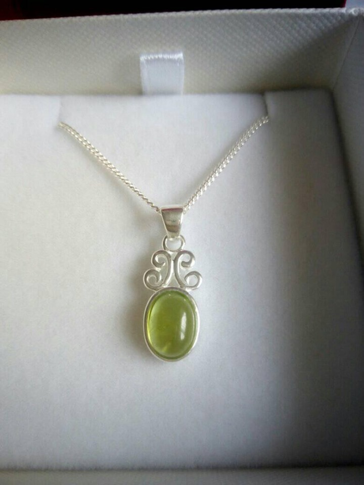 Silver Pendant With Scroll Top
