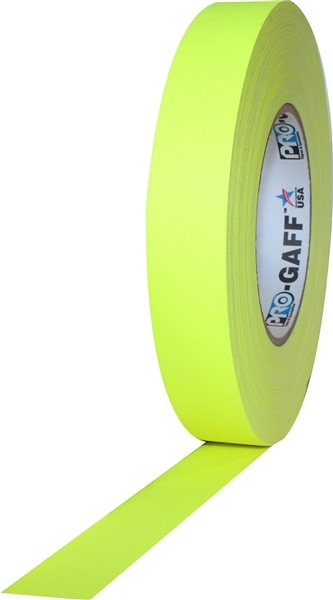 "PRO GAFF® - FL Yellow Fluorescent Gaffer Tape - 1"" x 25 yards (24mm x 22.8m)"