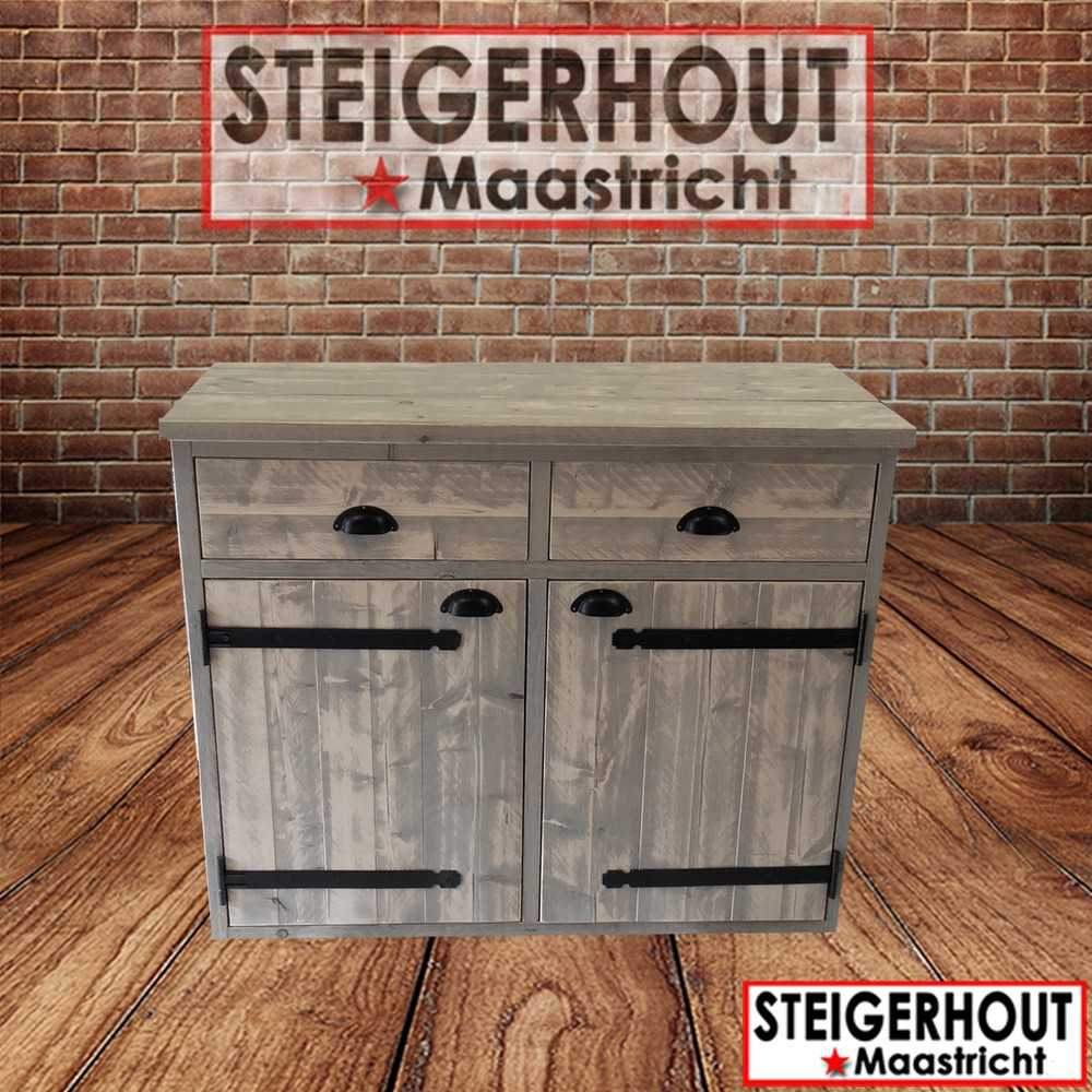 Dressoir Steigerhout White Wash.Dressoir Moor