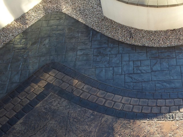 McHallum Builders are imprinted concrete driveway and patio specialists