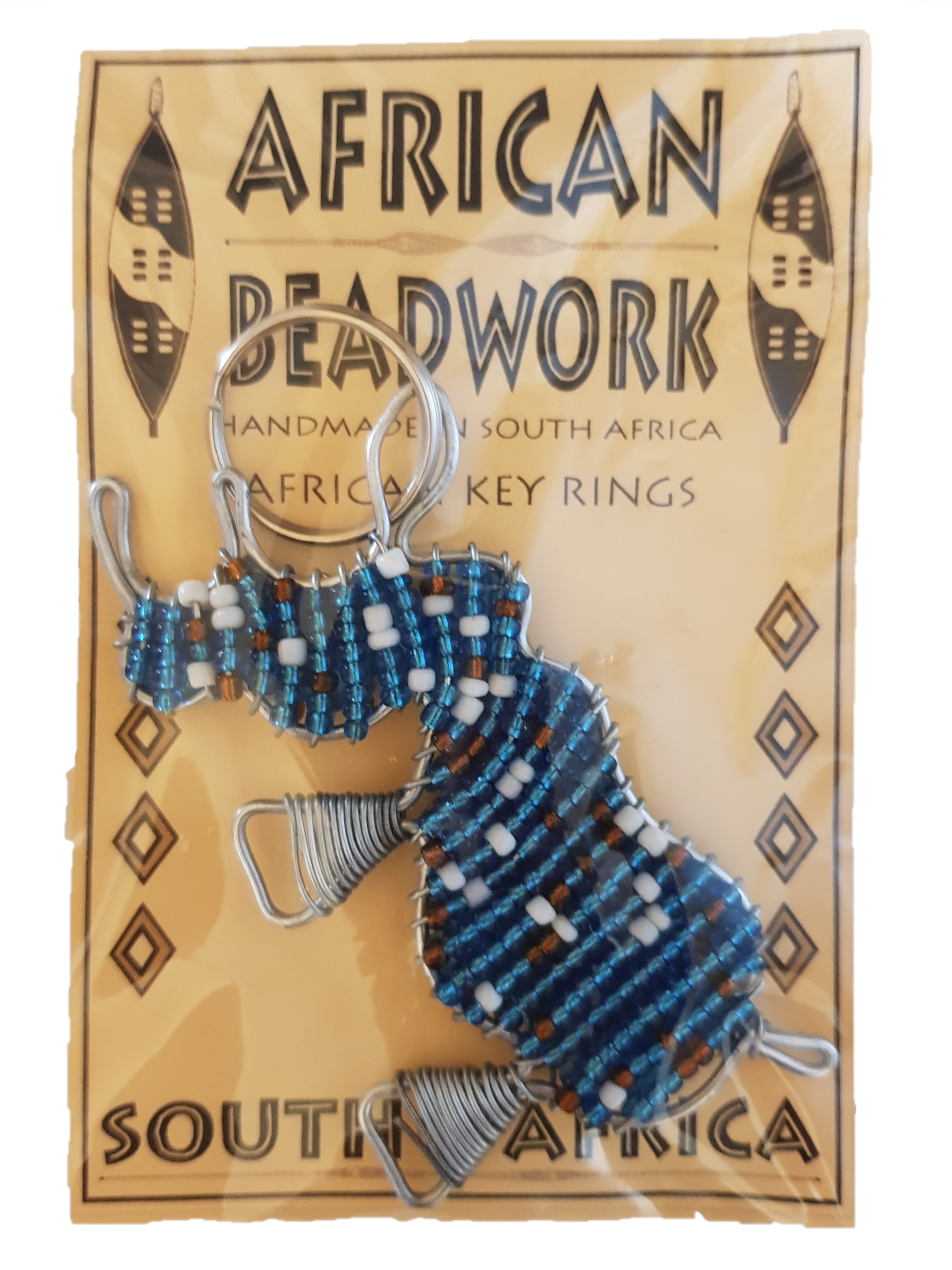 K1 Beaded Keyring Rhino