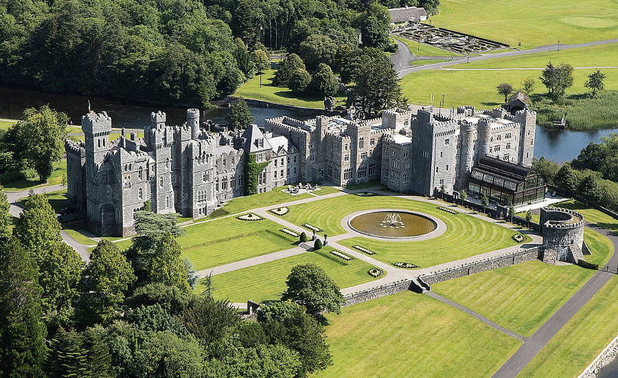 Helicopter Transfer to Ashford Castle