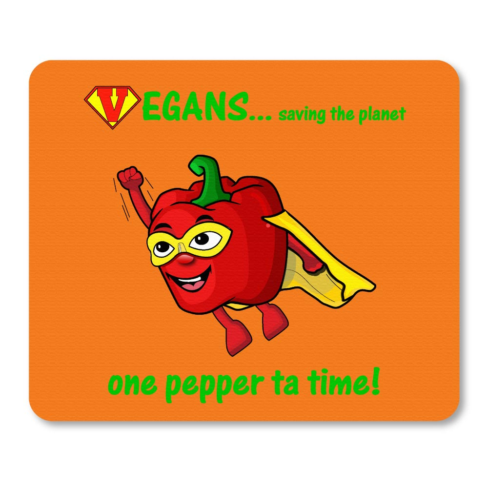Super pepper novelty logo printed rubber mouse mats. Orange