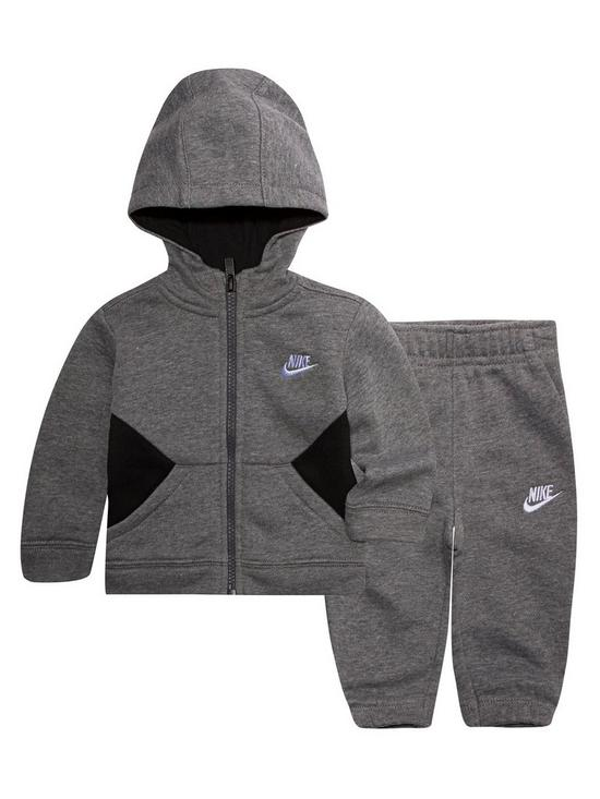 Nike NSW Core Suit Set Charcoal Grey-Black-White