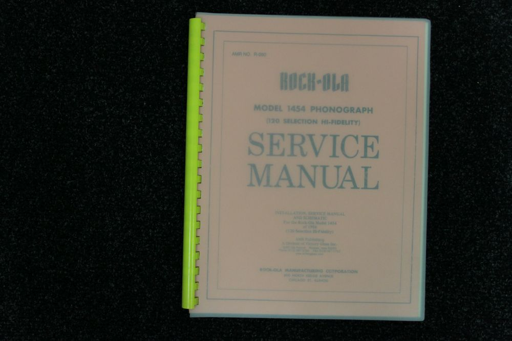 Rock-ola - Service Manual - Model 1454
