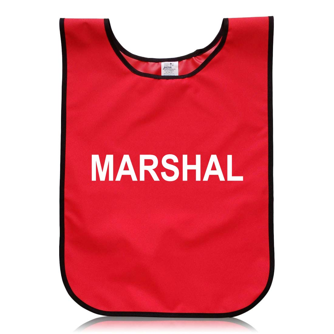 Red Polyester Marshal Tabard