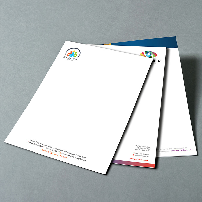 Headed Paper 100gm Premium Smooth White Paper  A4 (297 x 210 mm) Full Colour Single Sided
