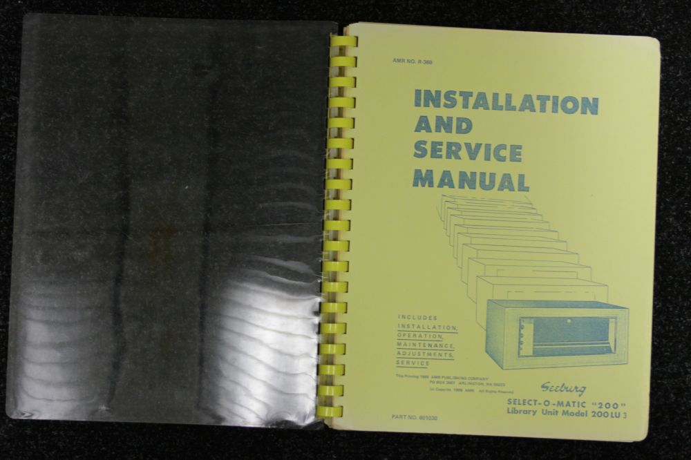 Seeburg - Installation and Service Manual Model 200 LU 3