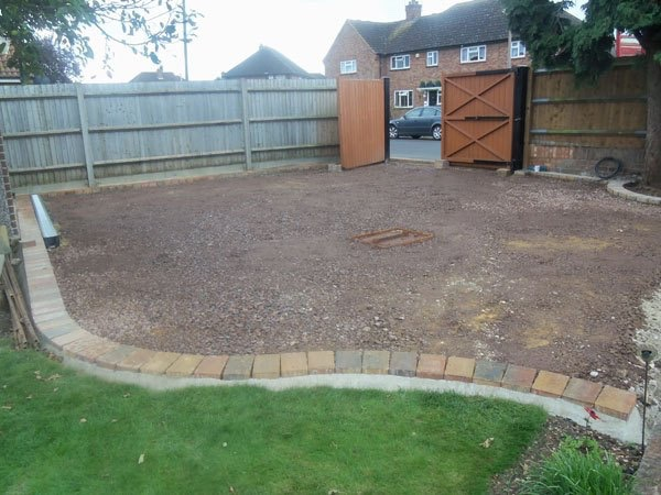 Building a new block paved driveway in Egham, Surrey
