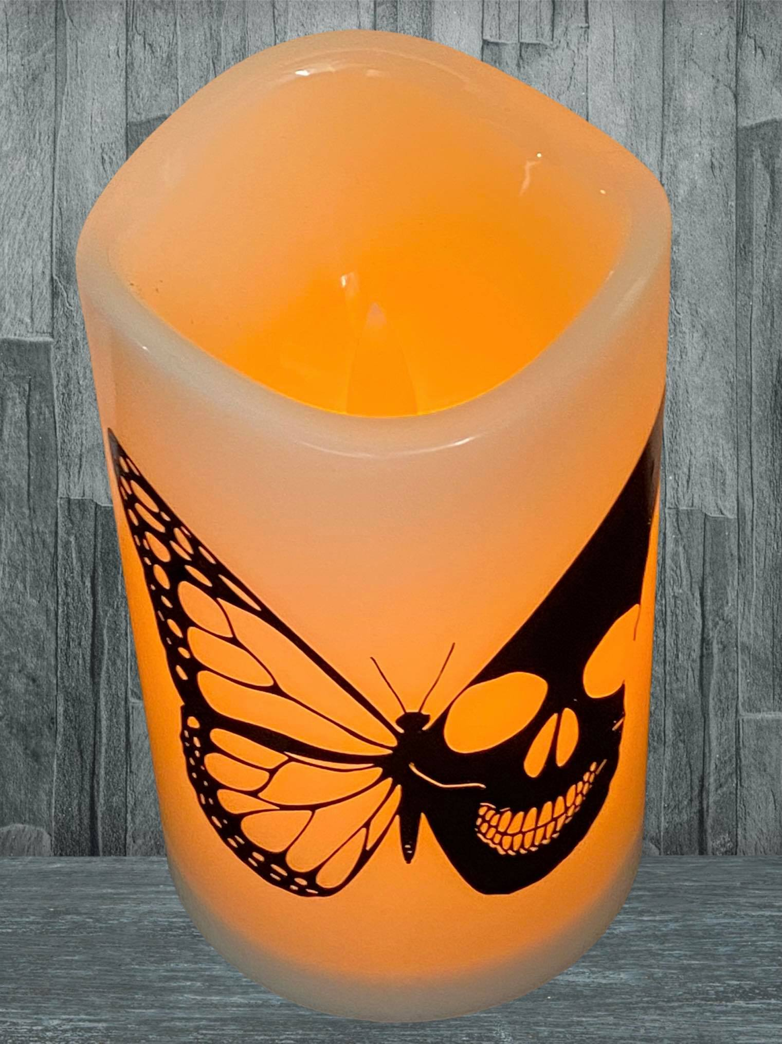 Butterfly & Skull LED Candle