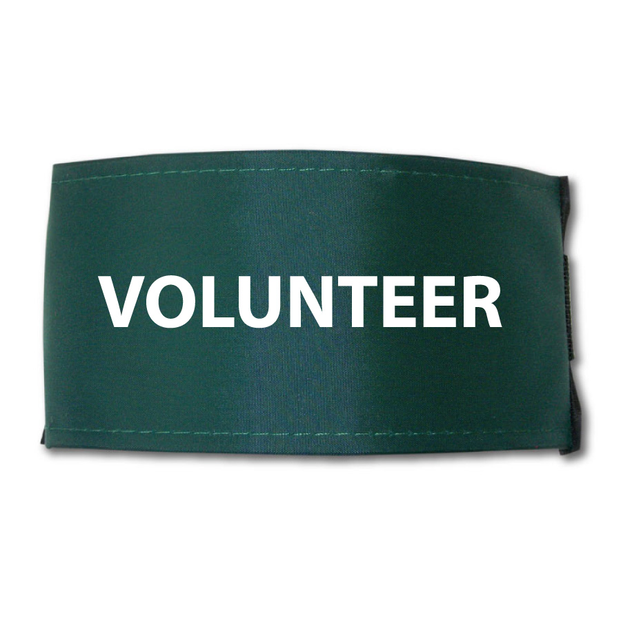 Armband Printed Volunteer