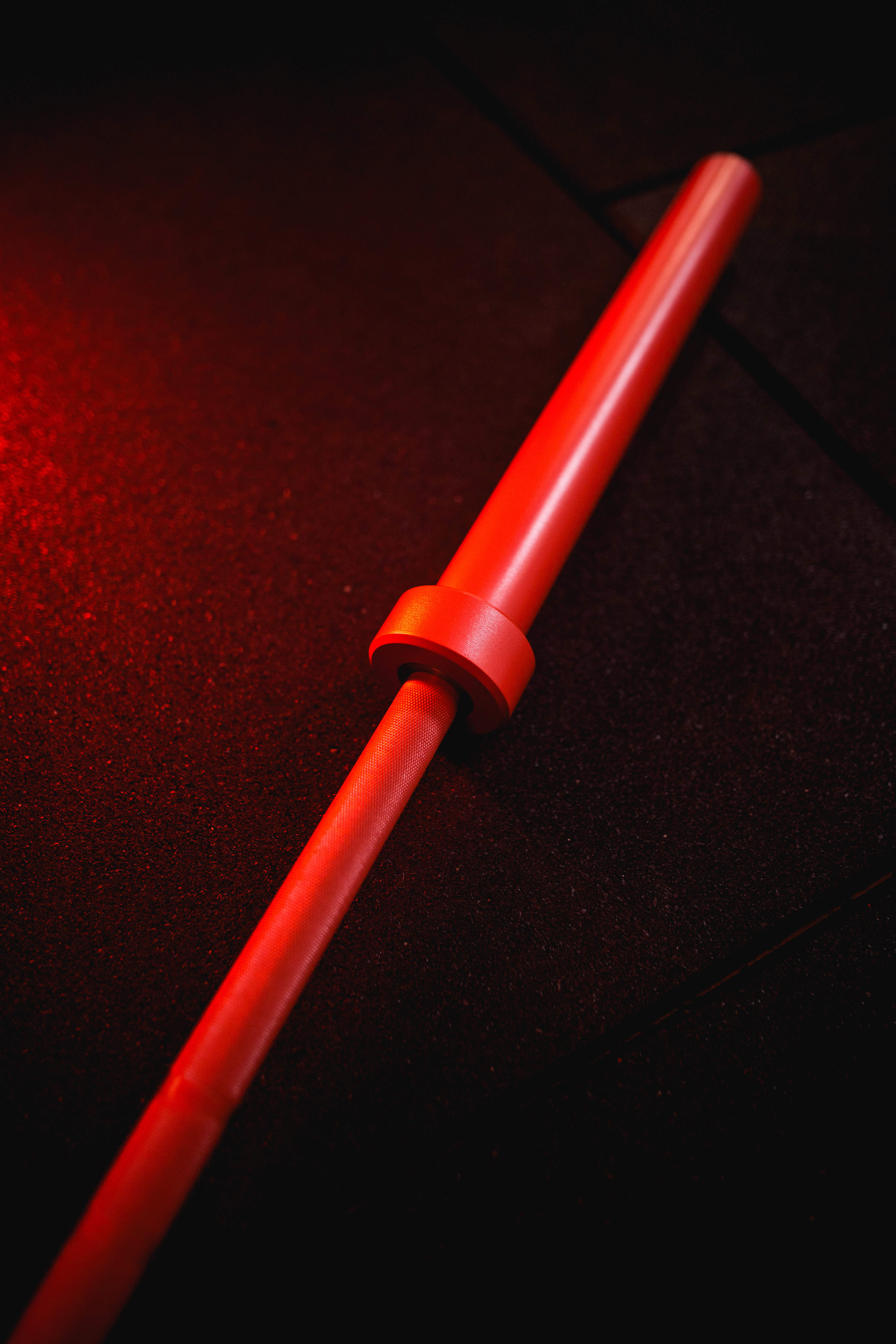 Energetic Red Barbell
