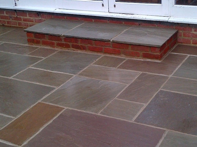Natural stone patios Twickenham