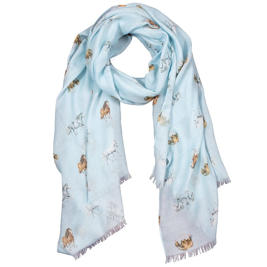 Horse Illustrated Scarf by Wrendale Designs