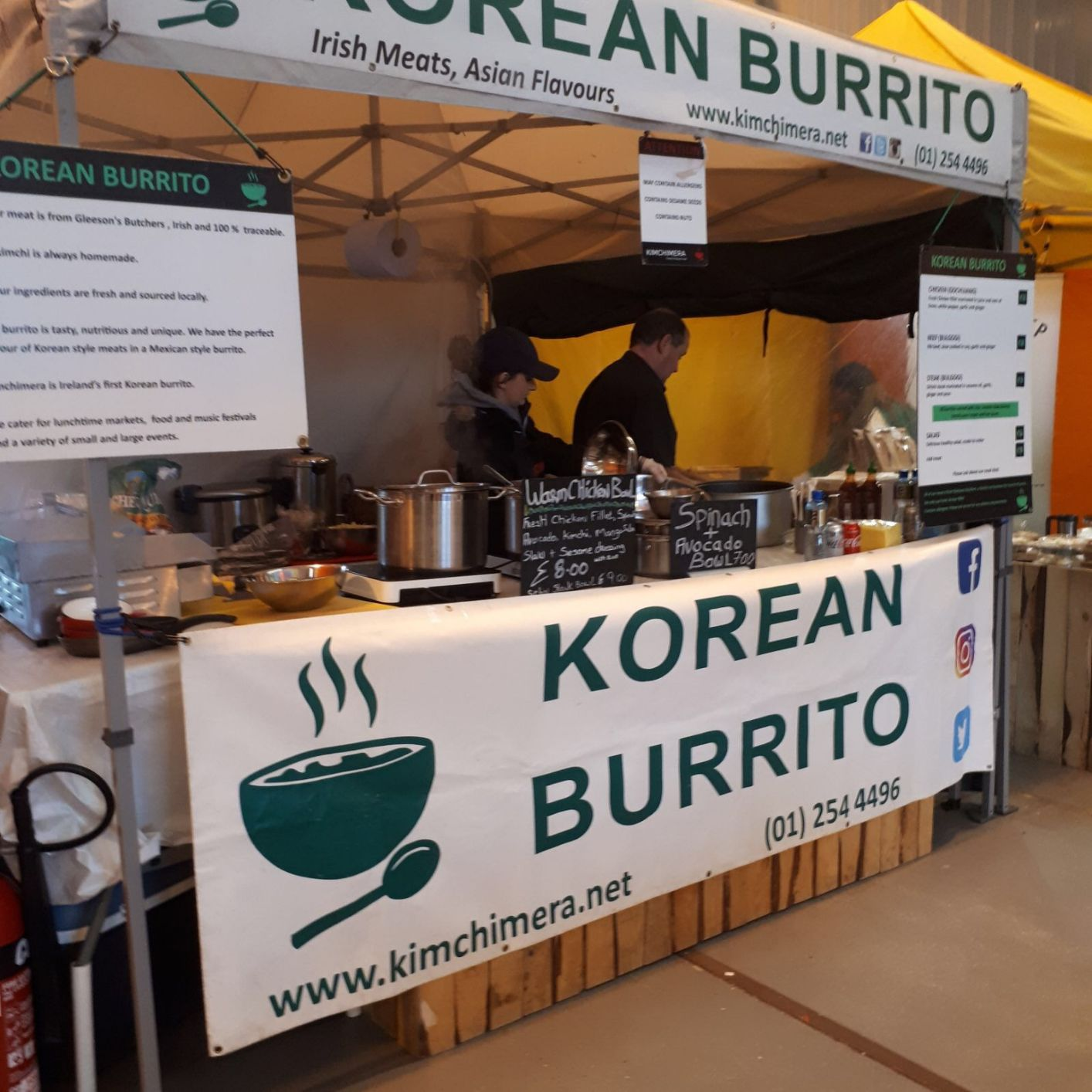 Burritos and bowls Korean style
